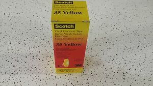 3m 108 4960 Scotch 35 Yellow Vinyl Electrical Color Coding Tape 1 2 x20 10 Pack