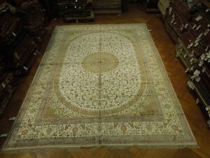 New Silk High Quality Persian Design Magnificent Handmade Large Rug 12x18