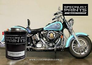 Pint Of Harley Davidson Mint Green Paint Motorcycle Automotive Ppg Hok