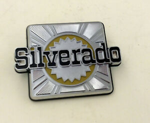 1980 87 Chevrolet Silverado Nameplate Emblem New Gm Nos 14014315