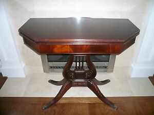 Hall Entry Game Table Burled Carved 98 00 Shipping By Greyhound Express