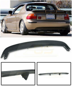 For 93 97 Honda Civic Crx Del Sol Mugen Style Jdm Rear Trunk Lid Wing Spoiler