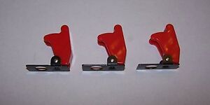 Toggle Switch Safety Cover Quantity Of 3 Red Military Style
