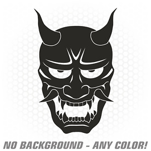 Hannya Mask Vinyl Decal Sticker Japanese Jdm Drift Stance Slammed Renegadelife