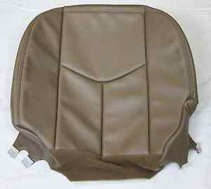 2003 2004 2005 2006 Chevy Silverado Truck Driver Synth Leather Seat Cover Tan