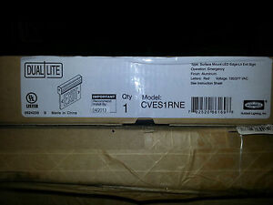 Cves1rne Emergency Light Dual lite Hubbell Fire Exit Sign New In Box