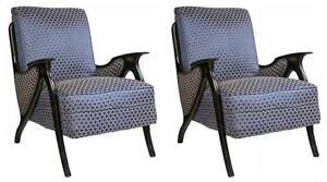 Pair Of Midcentury Modern Newly Upholstered Arm Chairs 101 Wh15