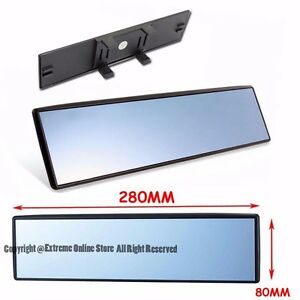 280mm Wide 80mm Height Interior Clip On Style Flat Blue Tinted Rear View Mirror