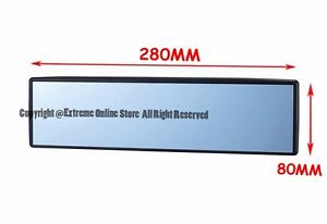 Universal 280mm Interior Jdm Panoramic Wide Angle Flat Reflect Rear View Mirror