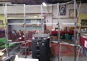 Popup Exhibit Booth Frame Cross Bars 4 Lights Case And Xtra Bars 94 w 91 t