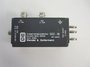 Wandel Goltermann Sdz 30 Balance Ratio Bridge 10khz 32mhz Sdz30