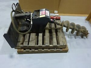 General H d Hydraulic Post Hole Digger For Use W Skid Steer 48 X 12