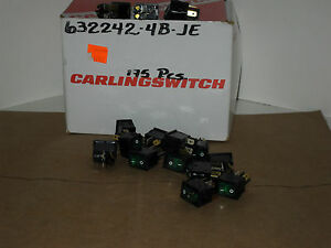5 Carling Rocker Switchs Green Illuminating 632242 4b je 12a 125vac