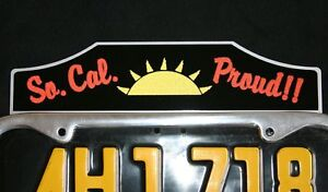 S California License Plate Tag Topper Ford Rat Hot Rod