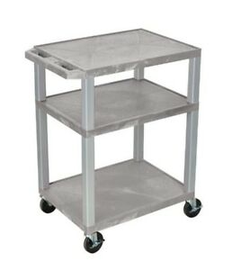 H Wilson Wt34gye n Tuffy 34 Gray Utility Av Cart 3 Shelves Electrical