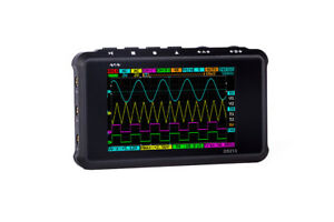 Mini Digital Storage Color Oscilloscope Metal Handheld Scope Dso 213 Nano Black