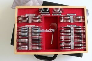 Top Quality Trial Lens Set Metal Rings 103 Pcs 36 5 Mm Leather Wooden Case