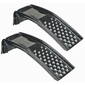 Pair Of Steel Metal Auto Car Vehicle Lift Tire Ramps For Car Maintenance