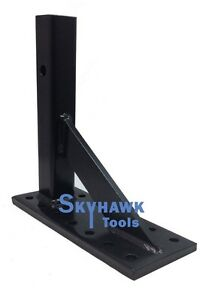 5ton 2 Pintle Hook Plate Mount W 12 Shank For Trailer Tow Hitch
