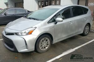 Eos Visors For 11 18 Toyota Prius V Jdm In Channel Side Window Guard Deflectors