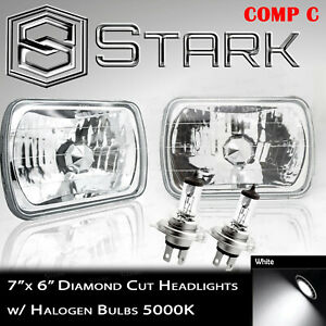 H6054 H6052 H6014 Head Light Glass Diamond Housing Lamp Conversion Chrome 7x6 C