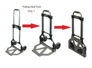 Folding Dolly Cart Foldable Hand Truck 150lb Office Moving Home Garden Equipment