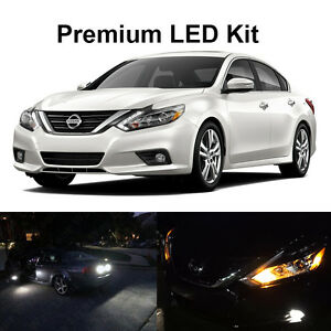 17 X White Led Interior Bulbs Fog Reverse Tag Lights For 2016 2017 2018 Altima
