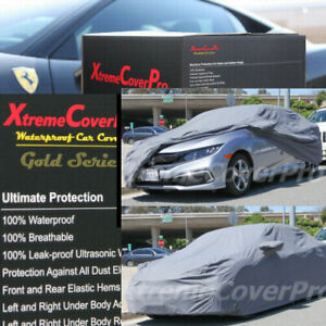 2016 2017 2018 Honda Civic Coupe Waterproof Car Cover W mirror Pocket grey