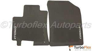 Toyota Corolla 2009 2013 Black All Weather Rubber Front Floor Mats Genuine Oem