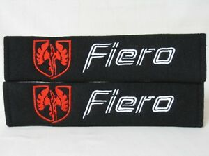 Cool Black Gm Pontiac Fiero Embroidery Seat Belt Cover Shoulder Pad Pairs