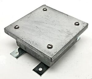 Crouse hinds Explosion Proof Wcb040402 Junction Overlap Pull Box Cast Iron 4x4x2