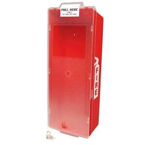 Beco Fire Extinguisher Cabinet Red Tub W Clear Cover 23 X 10 X 6 5