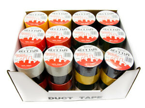 48 Rolls Of Duct Tape In Assorted Colors 1 89 X 10 Yds 8 Mil