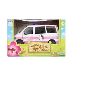 Hello Kitty Ambulance Die Cast Metal With Plastic Parts 3