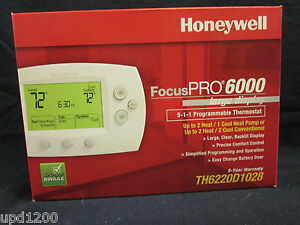 Honeywell Focuspro 6000 5 1 1 Programmable Thermostat th6220d1028