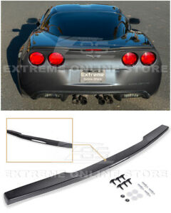 For 05 13 Corvette C6 Zr1 Abs Plastic Painted Rear Trunk Spoiler With Hardware