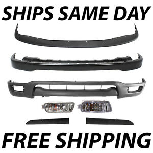 New Complete Front Bumper Combo Kit W Turn Lights For 2001 2004 Toyota Tacoma