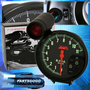 Universal 4 6 8 Cyl 5 Black Tachometer 11k Rpm Speedometer Gauge Shift Light
