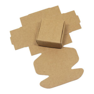 Brown Kraft Paper Packaging Boxes Party Gifts Crafts Candy Jewelry Packing Boxes