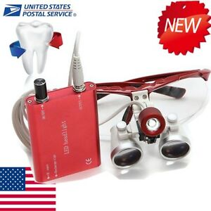 Denshine Led Head Light Dental Surgical Binocular Loupes Glasses 3 5x420 Set