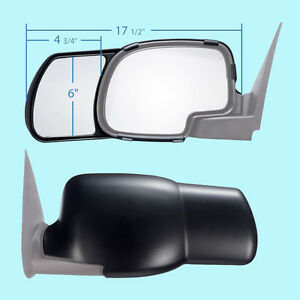 2 Clip On Towing Mirrors Tow Extension Side Rear View Hauling Extender Chevy 2