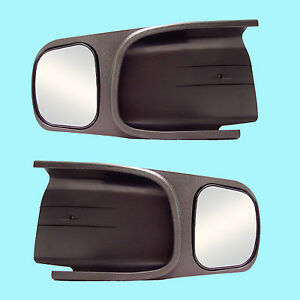 2 Clip On Towing Mirrors Tow Extension Side Rear View Hauling Extender Dodoge 2
