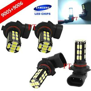 Combo 9006 hb4 9005 hb3 Samsung Led 30 Smd White Headlight Light Bulb Hi lo Beam