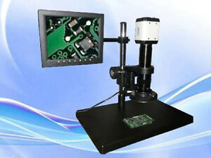 Digital Industrial Inspection Zoom Video Microscope Usb vga Output ccd Camera T