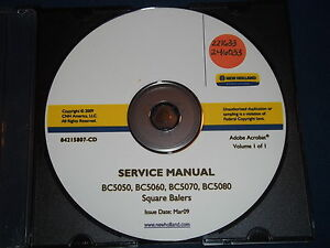 New Holland Bc5050 Bc5060 Bc5070 Bc5080 Baler Service Shop Repair Book Manual