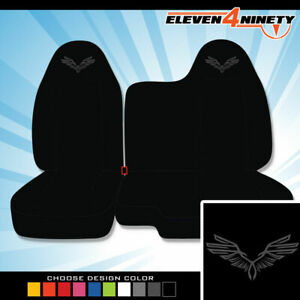 04 12 Chevy Colorado Black 60 40 Bench Seat Covers Wings Design Choose Color