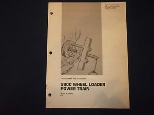 Cat Caterpillar 980c Loader Power Train Dis assembly Book Manual Senr7757