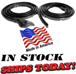 Mopar 67 68 69 70 71 72 Dart Duster Demon Valiant Molded Door Weatherstrip Seals