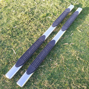 For 07 18 Chevy Silverado Crew Cab 4 Running Boards Side Step Nerf Bar S s Oval
