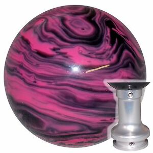 Marbled Black Pink Shift Knob W Spec Adapter Fits 6 Speed 10 12 Camaro